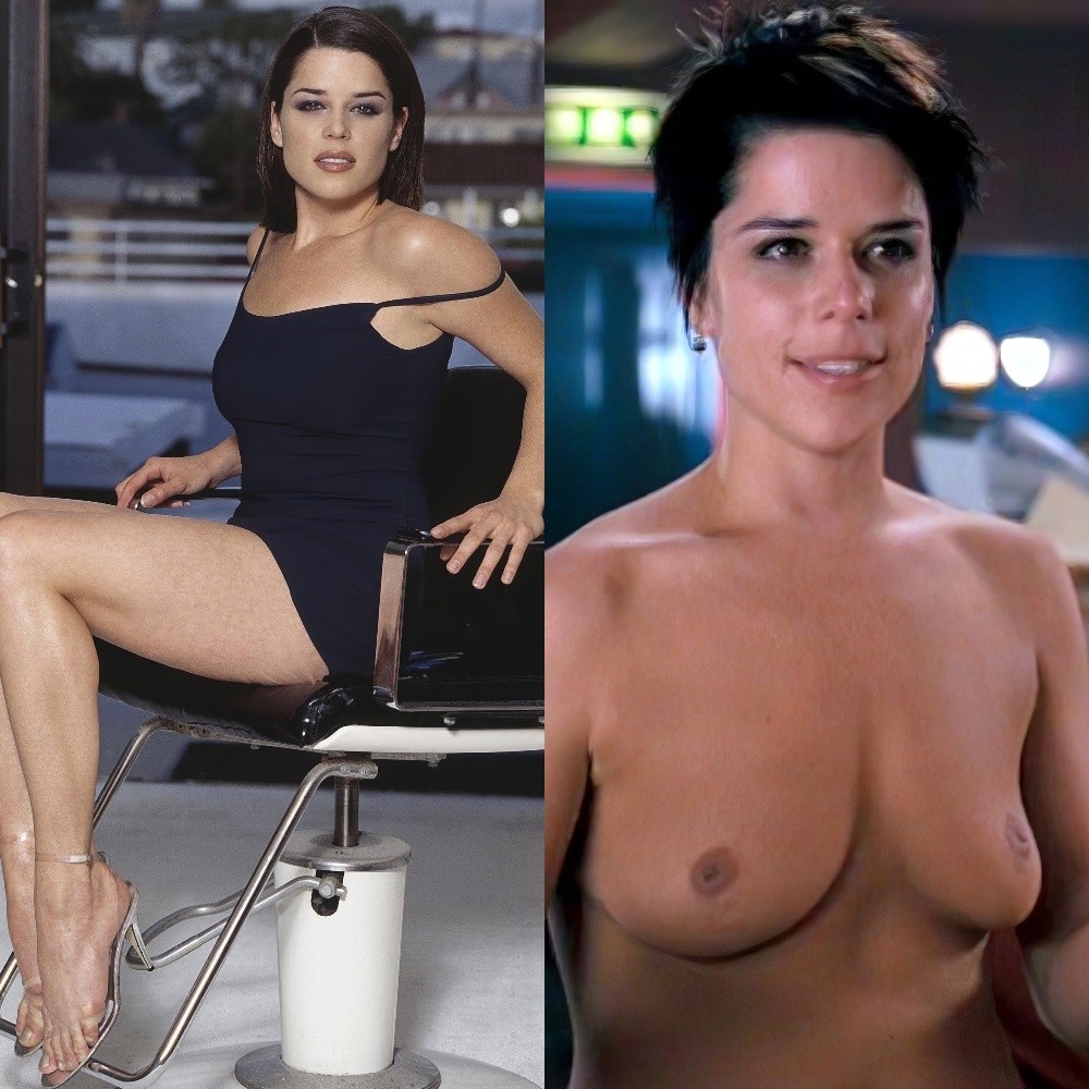 Neve Campbell nude topless